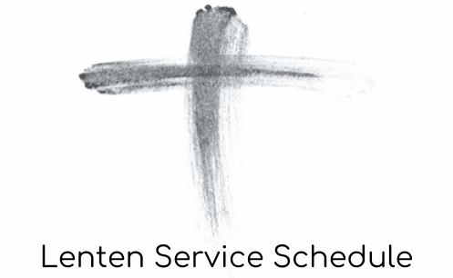 Lenten Services Advert